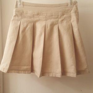 Girls khaki skorts